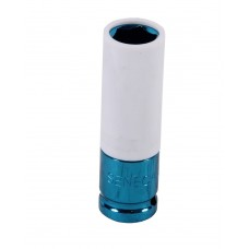Protective impact socket with plastic cover 17 mm