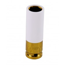 Protective impact socket with plastic cover 19 mm