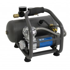 Portable air compressor with tank