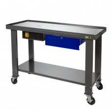 Workbench with oil collector