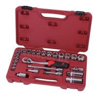 Socket wrench set 3/8'' 26 pieces professional