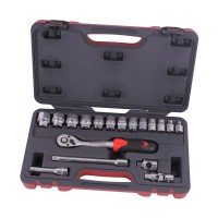 Socket wrench set 3/8'' 18 pieces sae professional