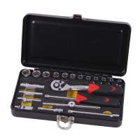 Socket wrench set 1/4
