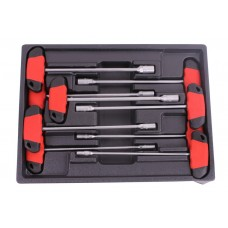 Hex nut driver t-handle set 9 pieces professional