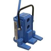 Hydraulic machine toe jack 8 ton with swivel base