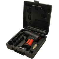 Air impact wrench kit composite 1/2'' with sockets