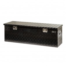 Jobsite box checkerplate extra large black coated