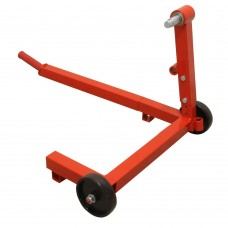 Motorcycle support stand for rear wheel