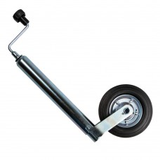 Trailer jack with clamp