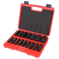 Deep impact socket set 16pcs 1/2