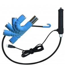 Flexible borescope with bendable head