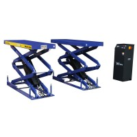 Low profile double scissors lift in-ground 3000kg 400V