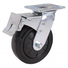Swivel caster with brake 150x50mm PU