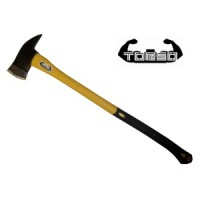Firemans axe with fiberglass handle