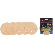 Sanding paper 6'' P80 velcro with holes 5pcs