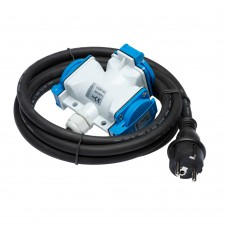 Extension cable 2,5m 3G 2.5mm2 with junction box