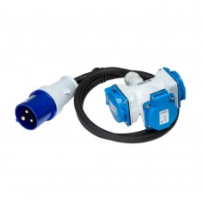 Extension cable 1m 3G 2.5mm2 with plug and junction box