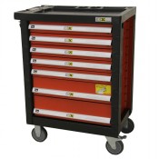 Roll cabinet including 246 pieces tools