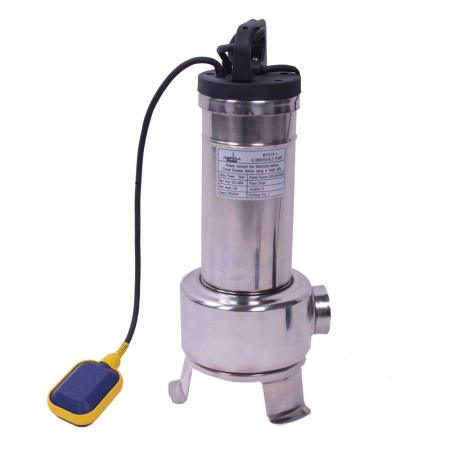 Submersible single vane pump stainless steel with float switch 0,75kW