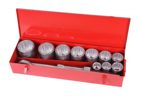 "Socket wrench set 1"" 12pt 15 pieces professional"