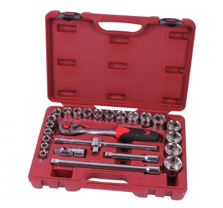 "Socket wrench set 1/2"" 25 pieces professional"