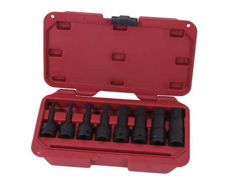 "Hexagon Impact bit sockets 1/2"" 8 pieces professional"