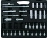 Socket wrench set 1/4''&3/8''&1/2'' 123 pieces professional