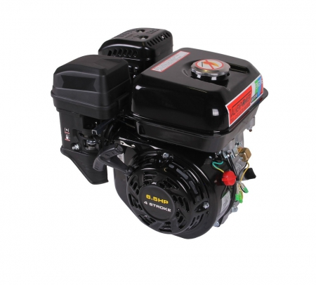 Benzinemotor hand start 6.5HP asmaat 19,05mm