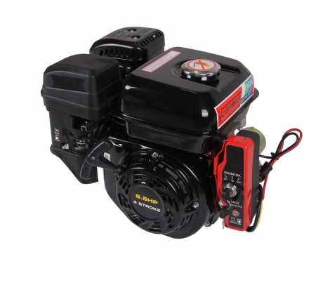 Benzinemotor E-start 6.5HP asmaat 20mm