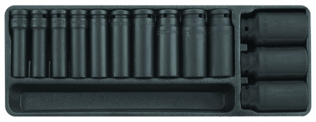 "Deep impact socket set 1/2"" 13 pieces professional"