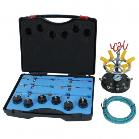 Air brush kit for 6 colors
